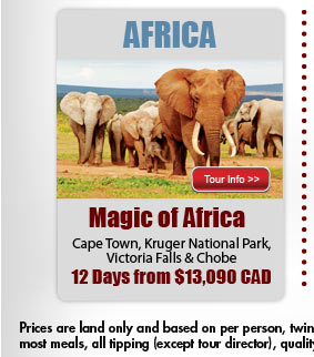 Magic of Africa from $10309US