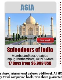 Splendours of India from $6999US